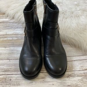Vince Camuto Shoes - Vince Camuto Black Warbita Moto Leather Boots